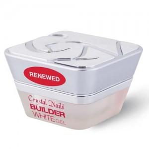 Crystal Nails - Builder White II. - RENEWED - Közepesen sűrű, vakító fehér építő zselé - 50ml
