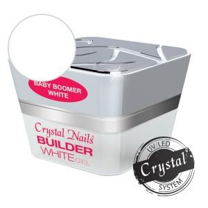 Crystal Nails - BABYBOOMER - WHITE ÉPÍTŐZSELÉ - 15 ML