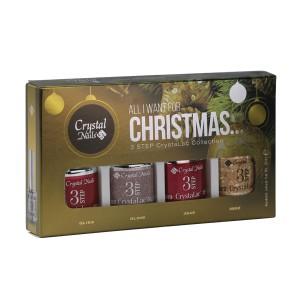Crystal Nails -   ÚJ! ALL I WANT FOR CHRISTMAS… 3 STEP CRYSTALAC KÉSZLET - 4x4ML