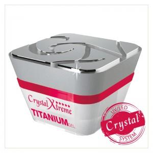 Crystal Nails - Crystal Xtreme Titanium Clear - átlátszó közepesen sűrű építő zselé - 50ml
